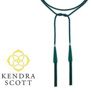 Kendra Scott Phara Tassle Necklace Emerald Green